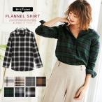 チェックシャツ ネルシャツ チェック柄 抜き襟 ベーシック フランネルシャツ レディース C3482