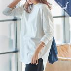 トップス Tシャツ コットン インナー 白 ロンT 日本製 白T カットソー ロンT 綿100 シンプル レディースC4455