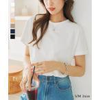 Tシャツ レディース トップス 綿100 夏 シンプル C5106