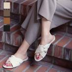 日替わりセール★リネン リボンベルトフラットサンダル レディース 靴 シューズ サンダル フラットサンダル ぺたんこ リボンベルト I1879