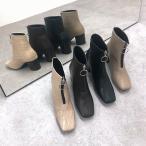 ブーツ ショート 歩きやすい チャンキーヒール スクエアトゥ レディース シューズ 靴 大人 秋 秋冬 冬 I1978