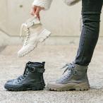 ブーツ ショートブーツ レディース モード ビガーブーツ ミリタリー 編み上げ キャンバス地 ワークブーツ カジュアル I2011