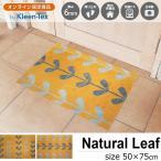 玄関マット 屋外 室内 洗える 滑り止め Natural Leaf たて よこ 50×75cm