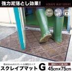 玄関マット ゴミ 汚れ 強力に落とす 業務用 屋外 室内  厚さ約6mm 薄型 無地 滑り止め 45×75cm