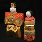 一刀彫 雛人形 鉄山作 立雛4.5号 奈良人形