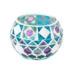 モザイクガラスホルダー ボール パープルブルー 11218833005 送料無料 同梱不可