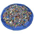 簡単 おもちゃ 片付け マット LEGO レゴ TOMIKA トミカ も 収納 ビッグサイズ ( ブルー )