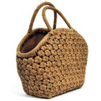 山葡萄かごバッグ  高級  六角編 山皮 内布付き  wild grapevine bag 91463
