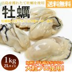 ショッピング広島 広島産 むき牡蠣 大粒2L 約1kg  25〜35粒入 冷凍 かき カキ 加熱 鍋 フライ(送料無料)