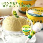レモン牛乳 アイス カップ(6個)+ソフト(6個) 栃木ご当地アイス 詰合せ お土産 冷凍(送料無料)