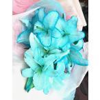 母の日 父の日 青 青の花 ブルー 水色 花束(L) クリスマス 誕生日 祝 開店
