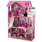 キッドクラフト アメリア ドールハウス 家具付き【おもちゃ/女の子/ままごと/木製/KidKraft Amelia Doll House/お人形のおうち】