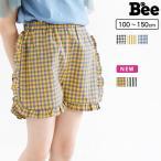 ショートパンツ 韓国子供服 Bee 女の子  ギンガム フリル ショートパンツ  春 夏  100 110 120 130 140 150 0704 baa ボトムス