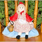 布おもちゃ 布人形 変身人形 フリップオーバードール 赤ずきんちゃん/バスケット付き  人形劇 童話の世界
