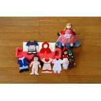布のおもちゃ 赤ずきんちゃんシリーズ 変身人形  お手玉 着せ替えセット 赤ずきんちゃん 3点組みギフトセット