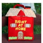 布絵本 知育絵本  RIGHT AT HOME     どうぶつたちのおうち   英語版  幼児教育