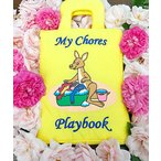 """布絵本 知育絵本 知能開発レッスンブック        カンガルー""""My Chores Playbook""""   英語刺しゅう版 幼児教育"""