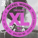 D'addario EXL120-3D(3パックセット) ダダリオ エレキギター弦