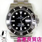 美品 ロレックス ROLEX サブマリーナデイト メンズ 腕時計 オートマチック 自動巻き ブラック セラミック 116610LN ランダム 中古 (hon)