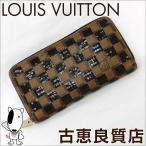 Yahoo!古恵良販売中古 LV lv LOUIS VUITTON ルイヴィトン  プレフォール ダミエ パイエット ジッピーウォレット  長財布 ノワール ブラック スパンコール N63173(hon)