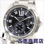 中古・外装仕上げ済 カルティエ CARTIER  カリブル ドゥ カルティエ メンズ 腕時計 オートマ バックスケルトン W7100016   値下げ(hon)