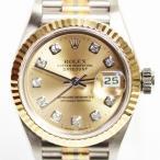 ROLEX ロレックス デイトジャストオイスターパーペチュアル レディース腕時計オートマ 自動巻き T番 K18 WG YG PG 750 トリドール69179BIC 中古 美品 MT2196