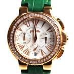 MT3455 FolliFollie フォリフォリ 腕時計ALICIOUS クロノ レディース WF13B001SE /中古/美品訳アリ品