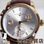 ULYSSE NARDIN ユリスナルダン ローズゴールド金無垢 腕時計 メンズ 3346-126/91 デュアルタイム マニュファクチュール/MT537/中古/質屋出店/あすつく