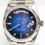 ROLEX ロレックス デイデイト 腕時計 メンズ 自動巻き 18039A   10Pダイヤ ブルーグラデーション文字盤  MT1590 中古 アンティーク