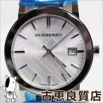未使用品/バーバリー BURBERRY メンズ 腕時計 デイトカレンダー シルバー文字盤 The city シティ クォーツ BU9000/買取品/質屋出店/あすつく/MT996