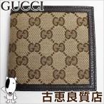 ショッピングキャンバス 展示未使用品/GUCCI グッチ 150413 GGキャンバス 二つ折り財布