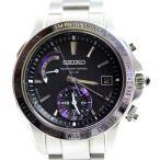 SEIKO セイコー ブライツ BRIGHTZ ワールドタイム ソーラー電波時計 ブライトチタン SAGA117/8B54-0AL0 黒文字盤  腕時計 メンズ  /中古あすつく/MT1988