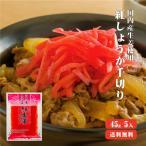 国産生姜 紅しょうが千切り 45g×5 メール便送料無料 国産 生姜 紅生姜 千切り 漬物