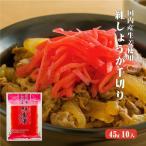 国産生姜 紅しょうが千切り 45g×10 国産 生姜 紅生姜 紅千切り 漬物 無香料