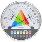 送料無料 エバニュー EVERNEW 熱中症 インフルエンザ 警告 温湿度計 径12.7×厚さ3.2cm 壁掛用 温度計 湿度計 熱中症対策 スポーツ 運動 体育 学校 EKJ121