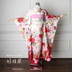 振袖 レンタル 正絹 着物 結婚式 成人式 安い 身長161-176cm 白 wh-023