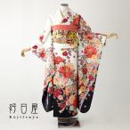 振袖 レンタル 正絹 着物 結婚式 成人式 安い 身長161-176cm 白 wh-039