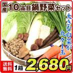 国産 10品目の鍋野菜セット 1箱 鍋用 野菜詰め合わせ 白菜 大根 きのこ 常温 国華園