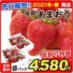 早割 インターネット限定  福岡産 あまおう 8パック ご家庭用 いちご イチゴ