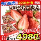 早割 インターネット限定  佐賀産 いちごさん 8パック ご家庭用 いちご イチゴ