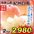 【数量限定】 桃 和歌山産 紀州白鳳 (約2kg) 6〜12玉 ご家庭用 品種おまかせ もも ピーチ フルーツ 国華園