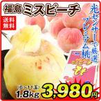 【数量限定】 桃 福島の桃 ミスピーチ (約1.8kg) 6〜11玉 ご家庭用 もも ピーチ フルーツ 国華園