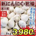 にんにく 香川産 ご家庭用 新にんにく 乾燥 1kg 送料無料 規格外