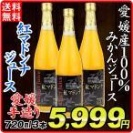 みかんジュース  紅マドンナジュース 果汁100% 愛媛産 (720ml×3本)1組 蜜柑 みかん ストレート果汁 手造り ギフト 飲料 国華園