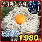釜揚しらす   1kg 訳あり 愛知産 シラス 食品 冷凍便