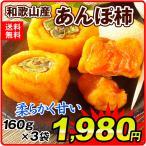 干柿 和歌山産 あんぽ柿 3袋 (160g×3) メール便 送料無料 干しかき 干し柿 和菓子 国華園