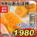 干柿 和歌山産 あんぽ柿 300g×2袋 あんぽがき 干しかき 干し柿 和菓子 国華園