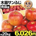 りんご ご家庭用 青森産 木箱サンふじ 約20kg 1組