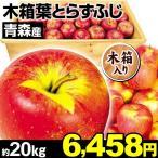 りんご 青森産 大特価ご家庭用 葉とらずふじ 約20kg 1組木箱