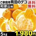 みかん ご家庭用 和歌山産 有田のデコ 5kg 1箱 送料無料